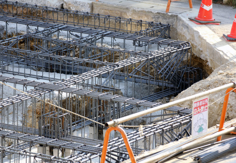 建設途中の様子