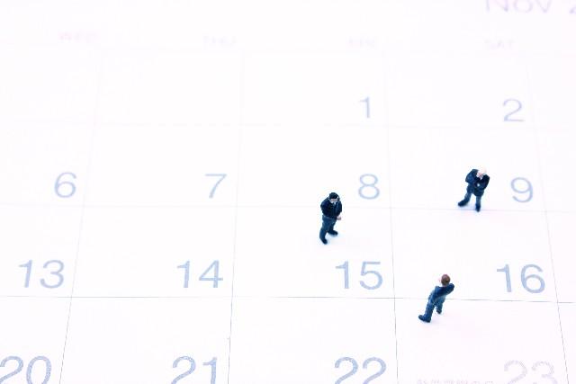 カレンダーとミニチュア