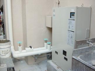 給水更新増圧ポンプ(修繕後)